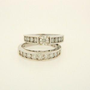 HELZBERG DIAMONDS 2.41ct WEDDING SET 14K